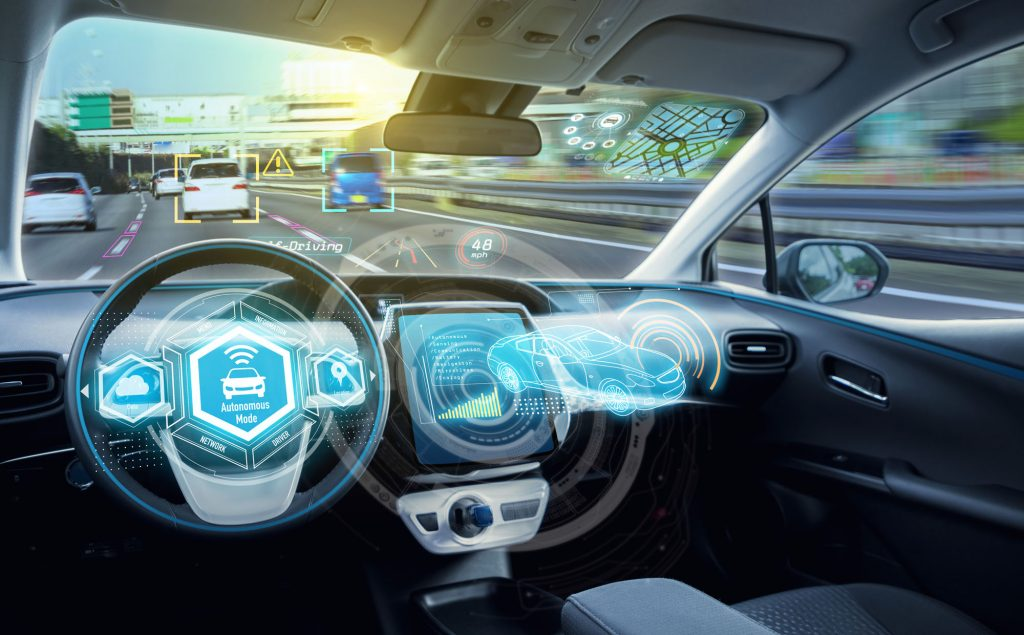 """Automated driving and mobility service"" and ""manufacturing and robotics"" are among the prioritized fields in the Connected Industries initiative. 