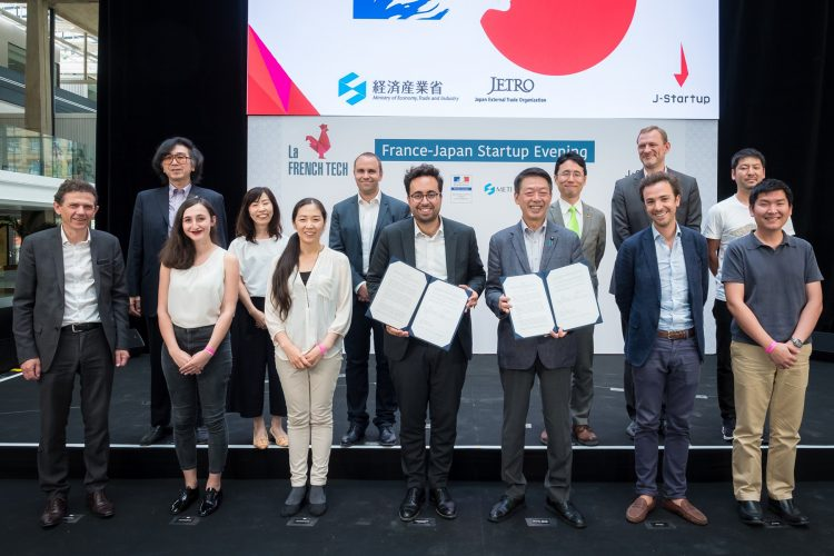 Japan and France jointly held a July event in Paris to support startups develop their businesses overseas.