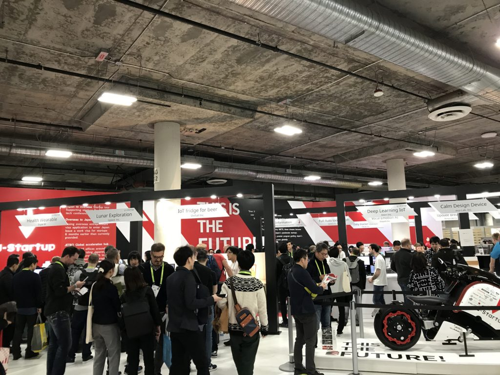 Companies recognized under the J-Startup Program have taken part in various overseas events, including CES in Las Vegas in January pictured above, to showcase Japanese innovation.