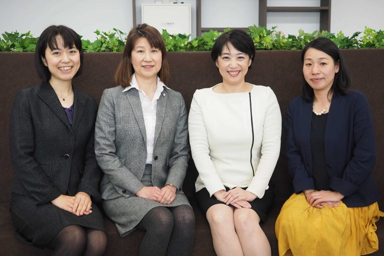 From left: Masayo Tokuhiro of the Ministry of Economy, Trade and Industry, Yumiko Kajiwara of Fujitsu, Narie Sasaki of Nagoya University's Graduate School of Science and Eriko Komiya of METI.