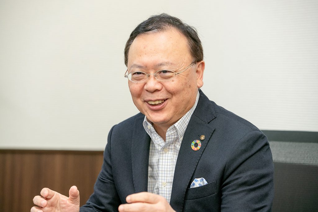 Roku-Roku President Mitsuru Kaitoh speaks in an interview.