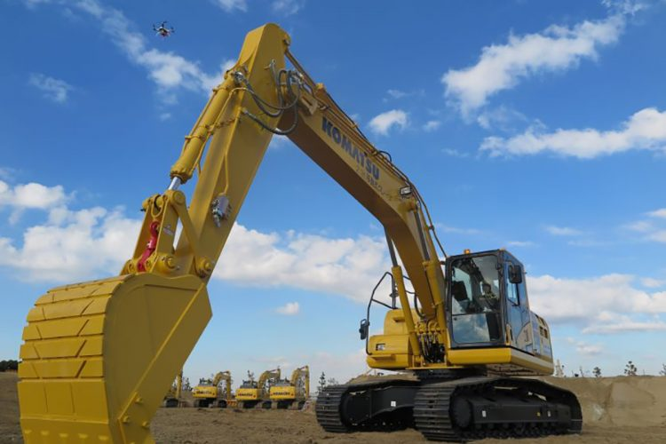 Komatsu drives the digitalization of Japan's construction industry.