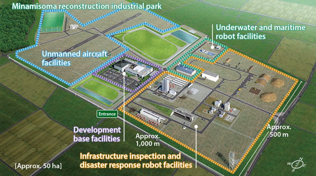 The layout of the Fukushima Robot Test Field