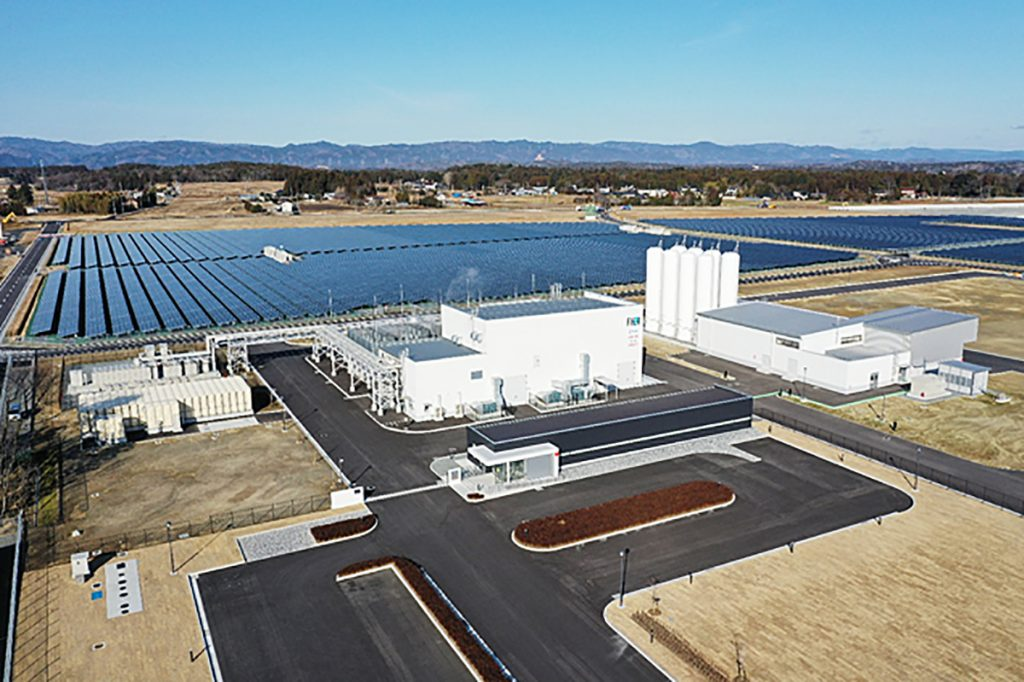 The Fukushima Hydrogen Energy Research Field, built under a project headed by entities including the government-affiliated New Energy and Industrial Technology Development Organization, opened in March 2020.
