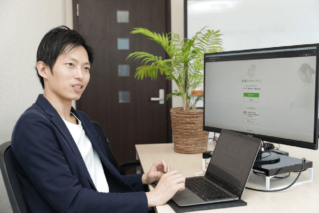 Daisuke Shigemi, representative of Kids Public's Sanfujinka Online (OB-GYN Online)